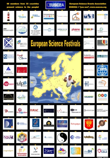 - poster of logos - dfn - science festivals - lower silesian science festival - festiwal nauki - eusea - euscea